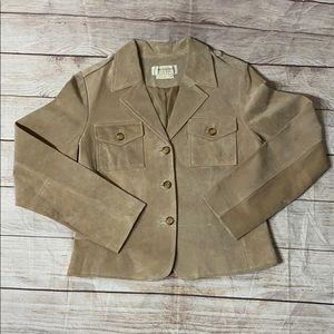 BLOOMINGDALES Vintage Genuine Leather Blazer